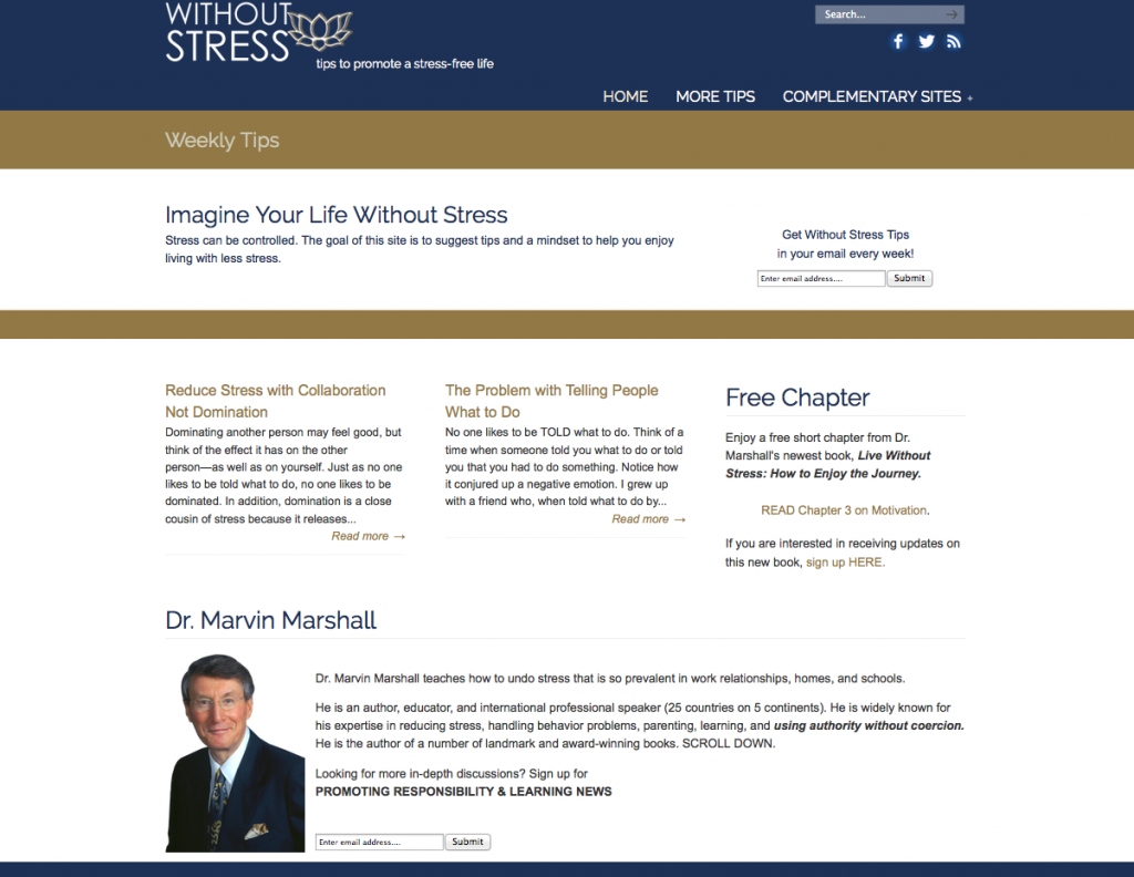 Without Stress – Weekly Tips