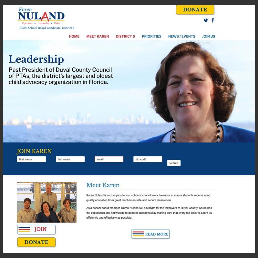 Candidate Karen Nuland DCPS School Board