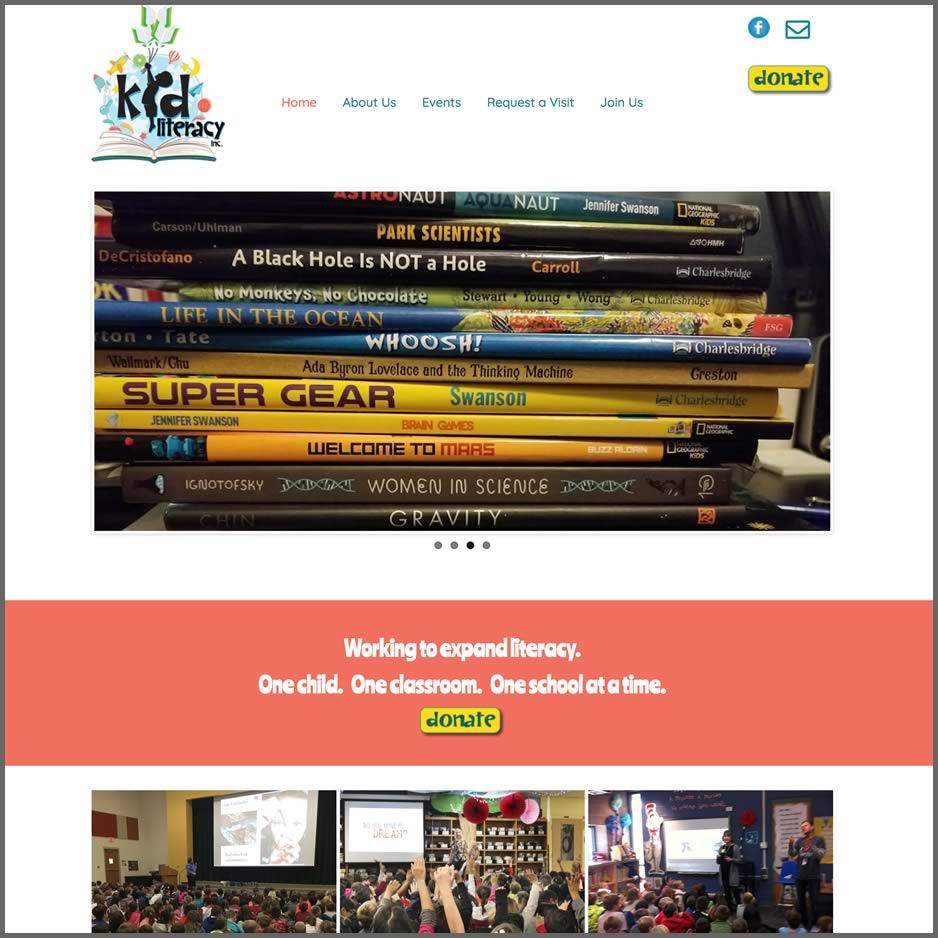 kidliteracy.org website screenshot