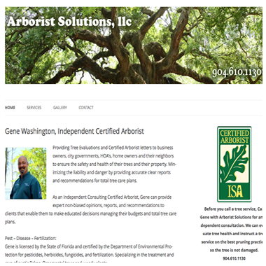 Gene Washington, Arborist