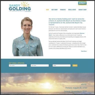 Candidate Sandy Golding Jax Beach City Council